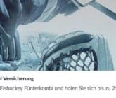Bei BetVictor gibt es eine Eishockey Kombi Versicherung