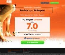 Benfica gegen Bayern - Wette mit dem Wett-Special von 888Sport