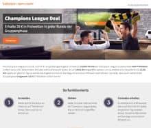 Der Champions League Deal des Wettanbieters Betsson