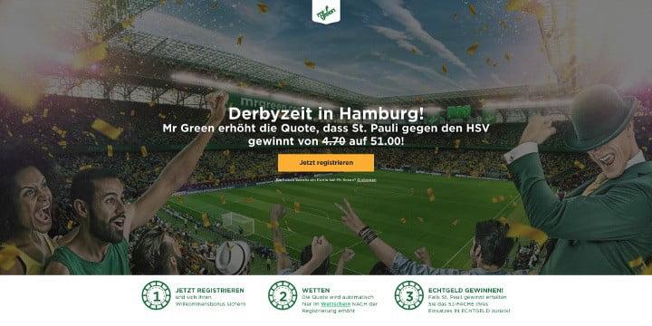 Mr Green - St. Pauli gewinnt gegen den Hamburger SV