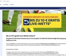 Bremen gegen Wolfsburg - Eine Live-Gratiswette bei Sky Bet sichern