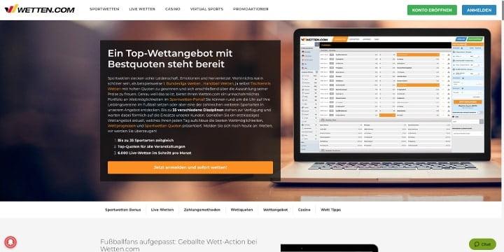 Wetten.com Wettangebot