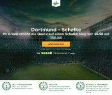 Auf den Sieg von Schalke gegen Dortmund mit der Top Quote 100 wetten