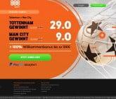 Auf den Sieg von Tottenham oder Manchester City mit Top Quote wetten