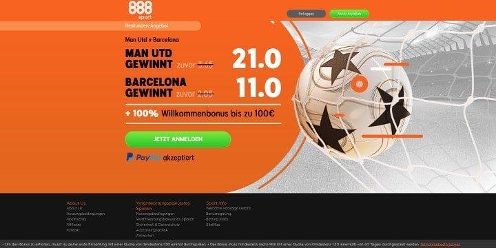 Mit Top Quote auf das Spiel Manchester United oder Barcelona wetten