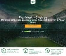 Mit Top Quote von 30 auf den Sieg von Frankfurt gegen Chelsea wetten