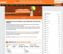 Bei der French Open Herausforderung von Expekt auf Tennis wetten