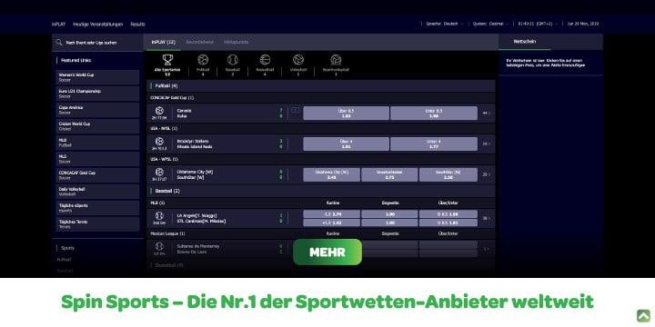 Sportwetten Spin Sports