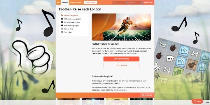Bei LeoVegas Footballwetten abgeben und Reise nach London gewinnen