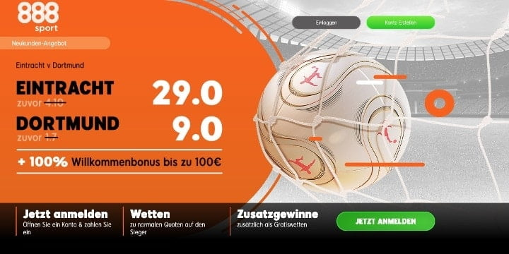 Mit Top Quoten auf das Spiel Frankfurt gegen Dortmund wetten