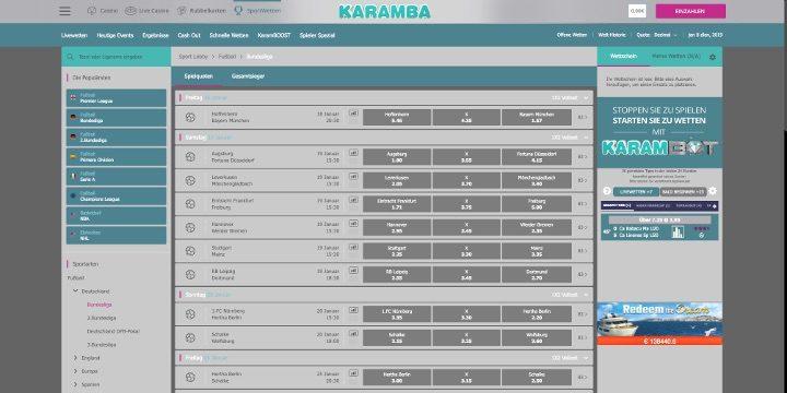 Karamba - Fußbalwetten